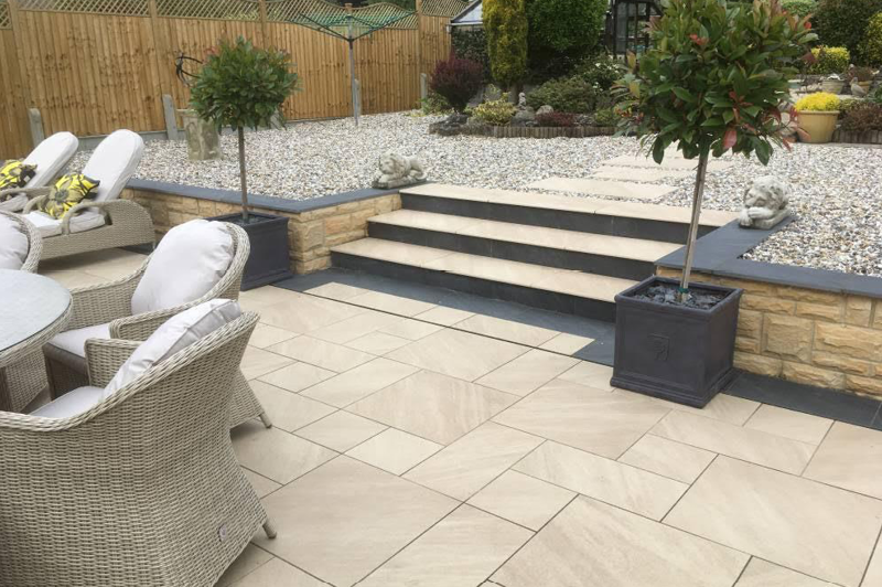 design and installation of new paving patio and landscaping 4