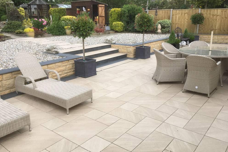 design and installation of new paving patio and landscaping 7