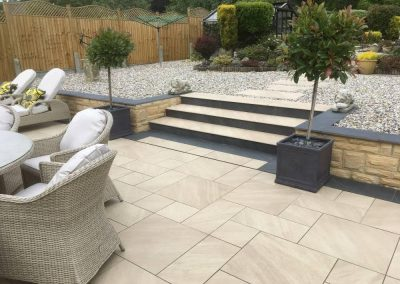 installtion of new patio steps and garden landscaping