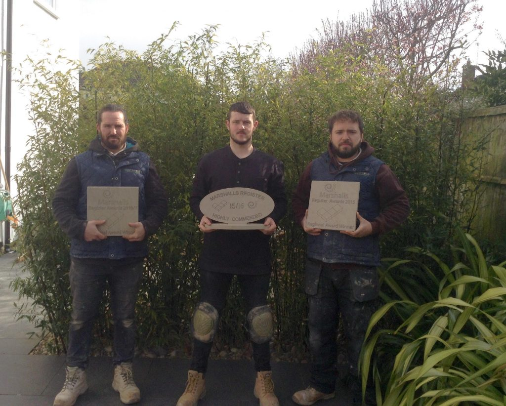 Award Winning Cotswold paving and Landscaping team photo